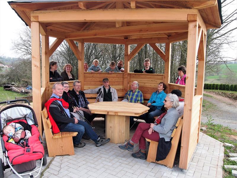 Schutzhütte am Wanderparkplatz Fitzegarten