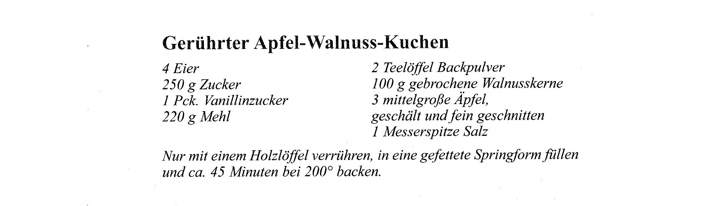 Rezept Dezember Gerührter Apfel-Walnuss-Kuchen