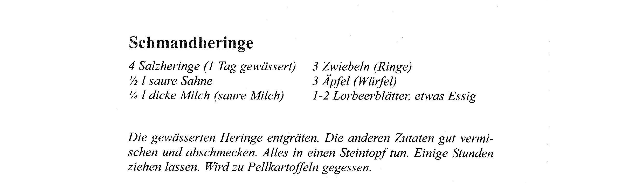 Rezept Mai Schmandheringe