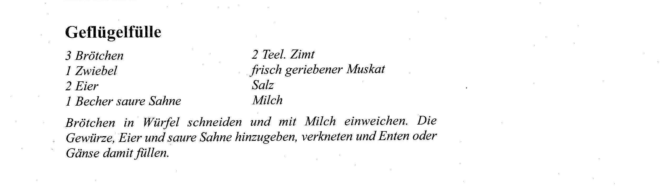 Rezept November Gänsebr. u. Gemüsefülle