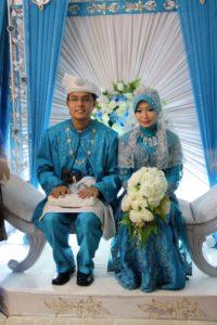 Malaiisch-muslimisches Hochzeitspaar in Malaysia